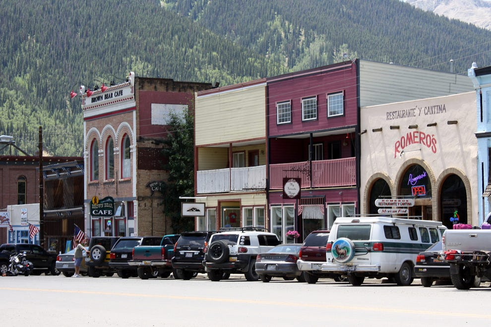 The old-fashioned town of Silverton, Colo.