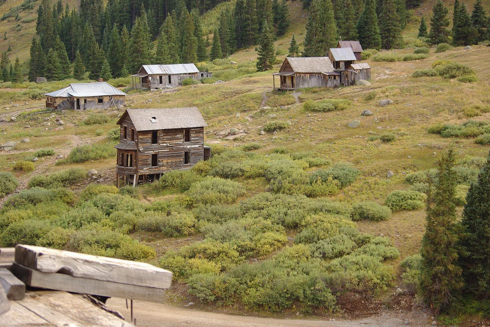 The ghost town of Animas Forks, Colo.