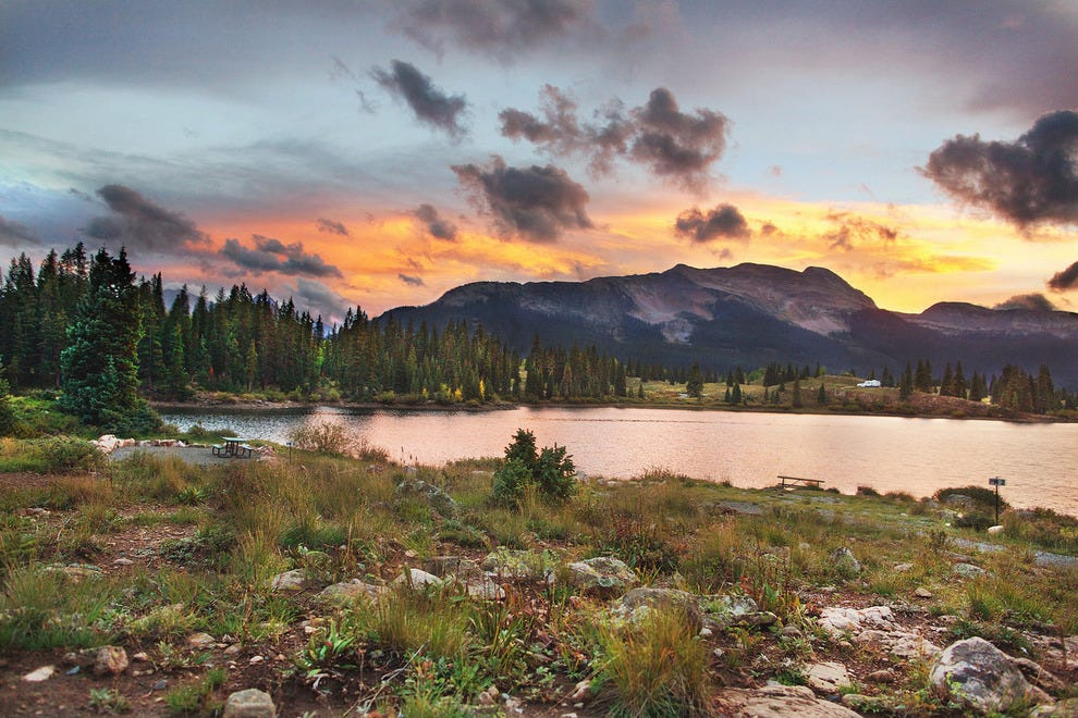 Molas Lake is home to one of the most scenic campgrounds