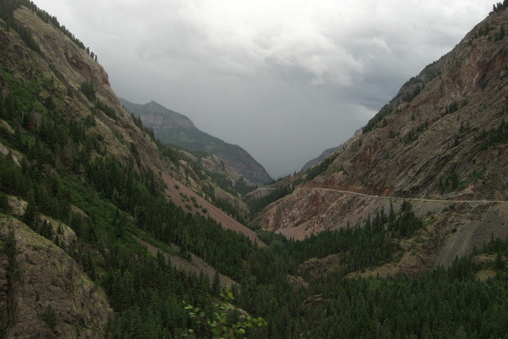 The dramatic Uncompahgre Gorge