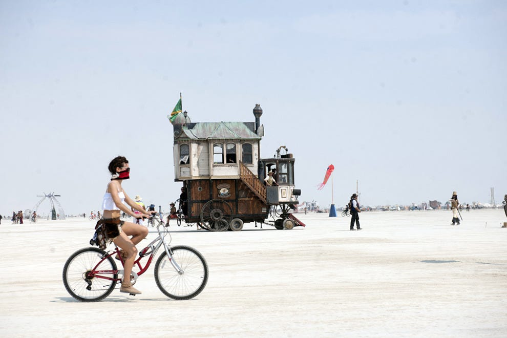 Set off and explore the playa by bike.