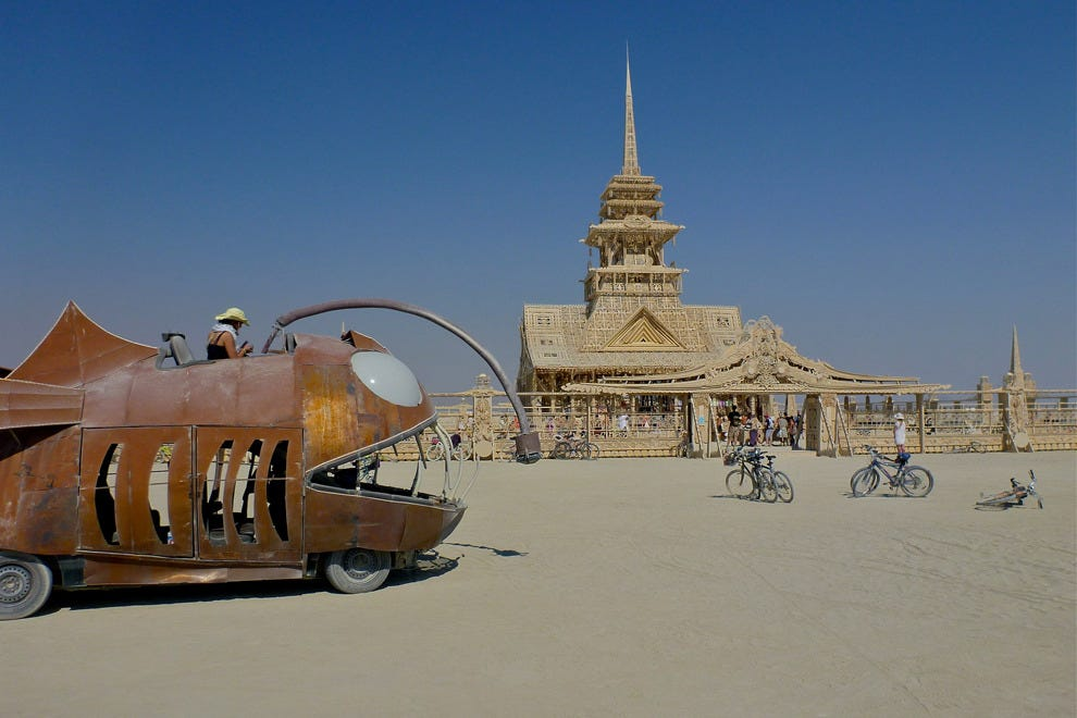 The temple at Burning Man.