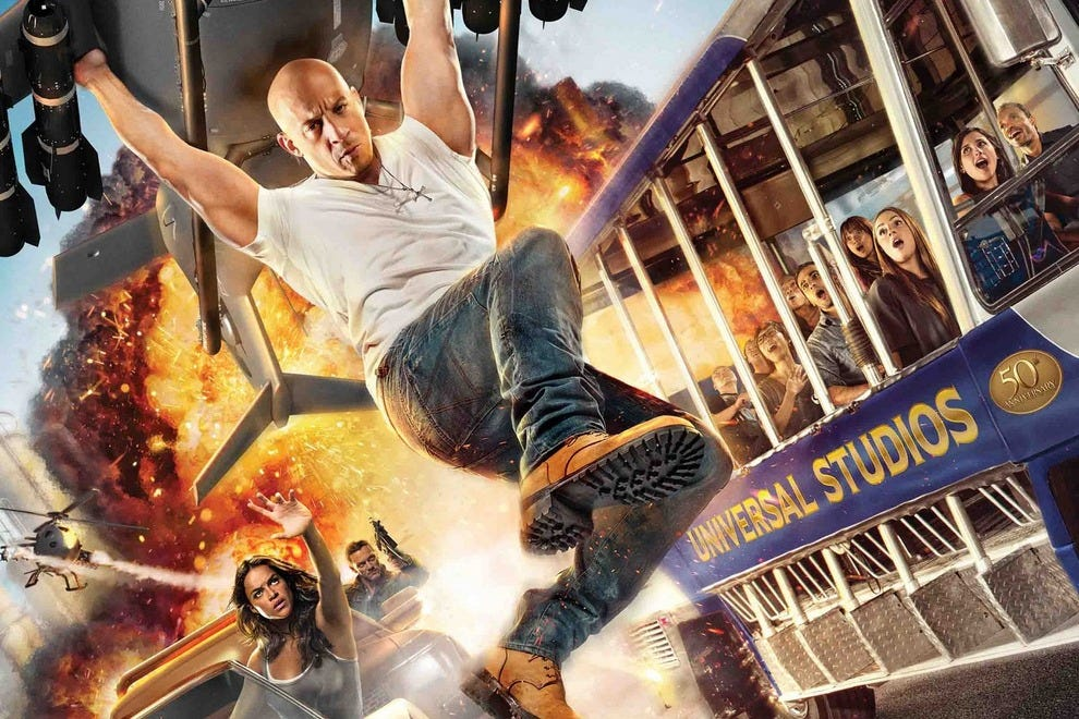 Explosions, fast cars and plenty of excitement fill the Fast & Furious – Supercharged ride with excitement
