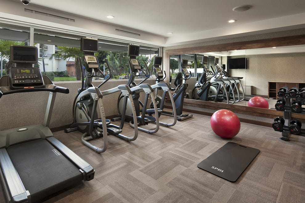 The fitness center at The Redondo Beach Hotel