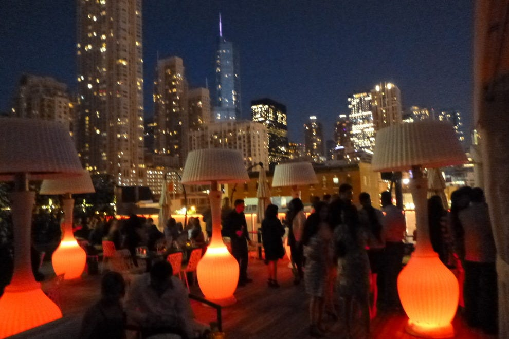 The IO rooftop bar at The Godfrey Hotel in Chicago
