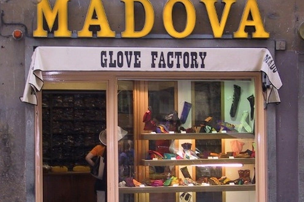 The front of the famous Madova Gloves store