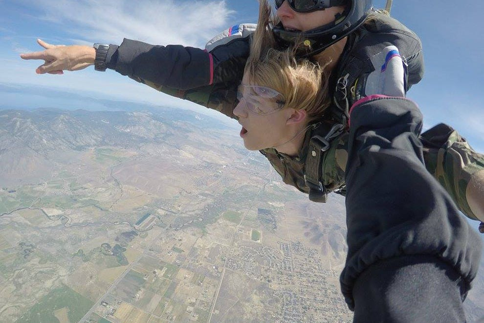 During your free fall with Skydive Lake Tahoe, enjoy 360-degree views of the entire area