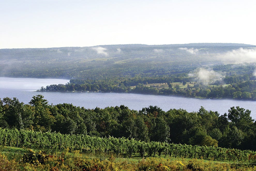 The Keuka Lake Wine Trail is one of three trails in the Finger Lakes region