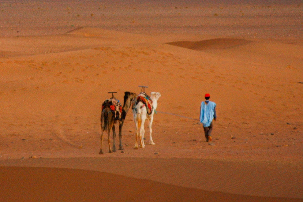 The moment of arrival in the Sahara is thrilling for those who have been learning about it since second grade.
