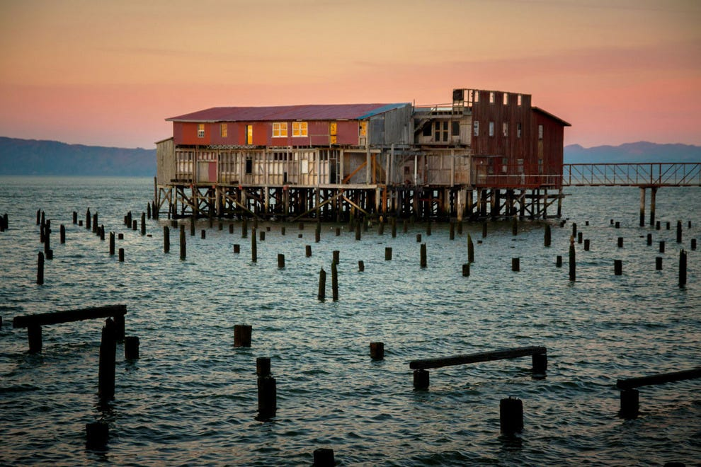 A defunct cannery in Astoria, Oregon