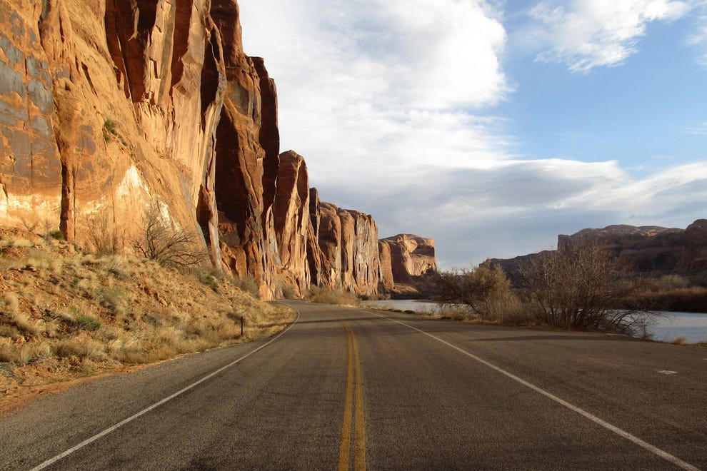 A road near Moab, Utah