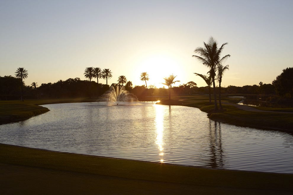 Sunset at The Vinoy's golf course