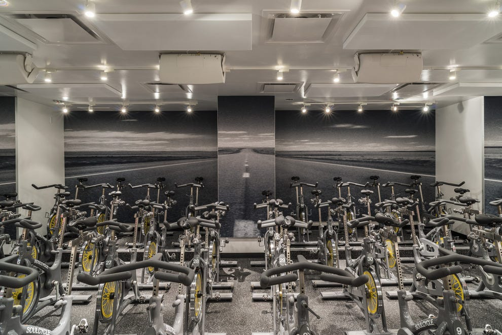 Inside Soulcycle at The Point