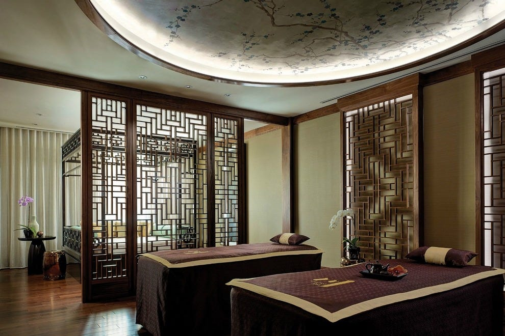 Couples treatment room at Chuan Spa
