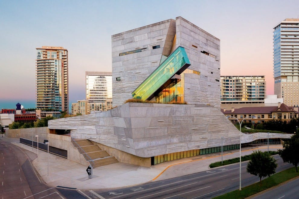 The uniquely designed Perot Museum of Nature and Science