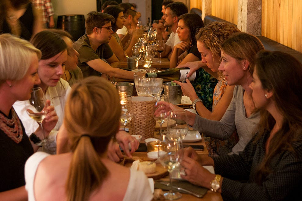 Full bodied: The wine bar is a popular nightlife option
