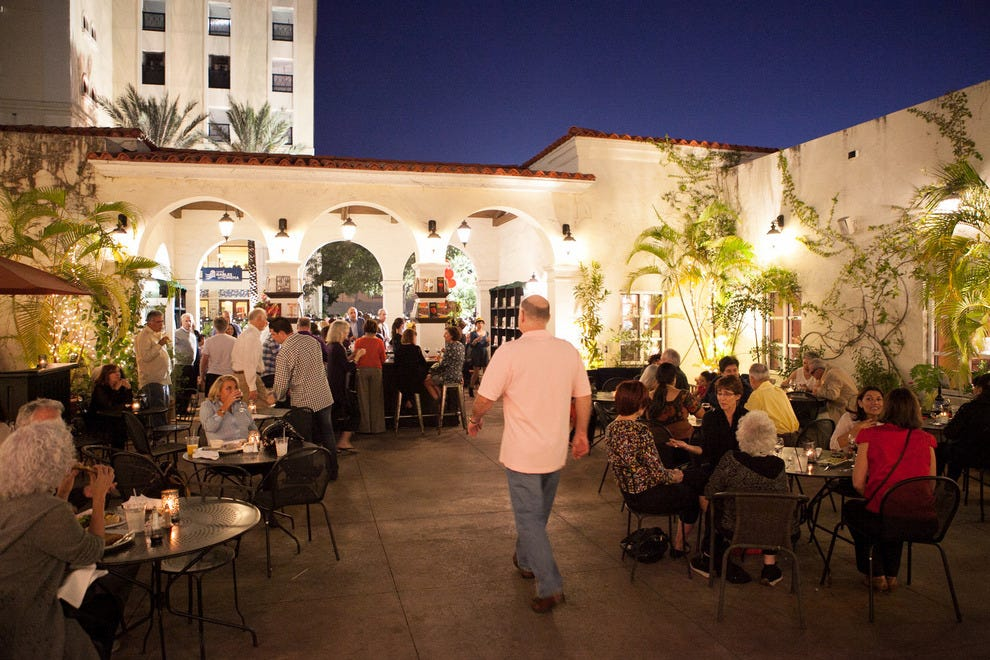 The courtyard is the perfect place to enjoy a meal from the cafe or catch some live music