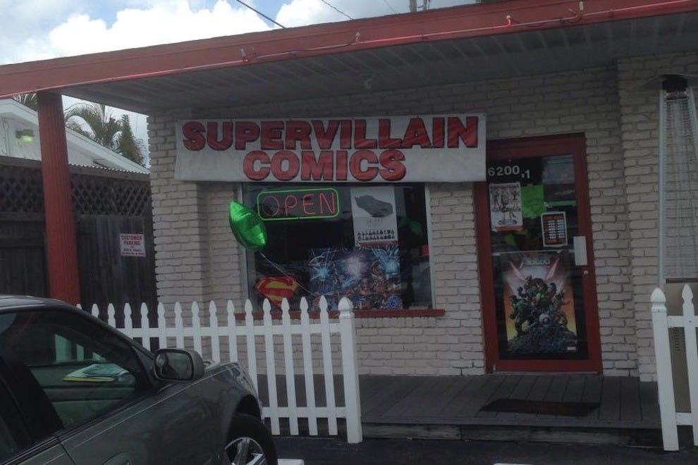 SuperVillian Comics' new location