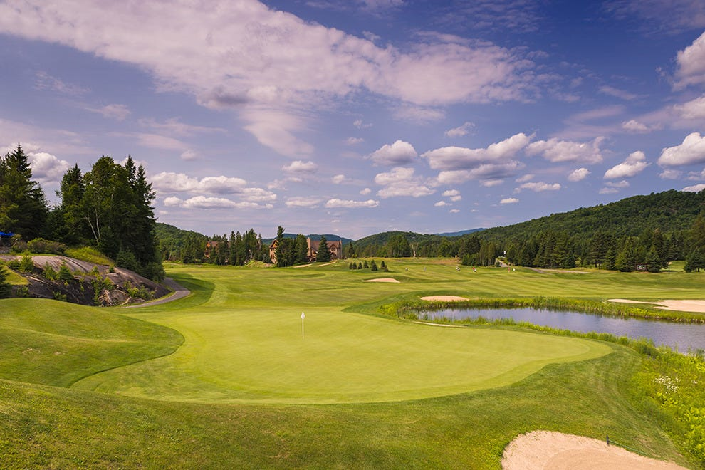 The 18th hole at Mont-Tremblant-based Le Maitre