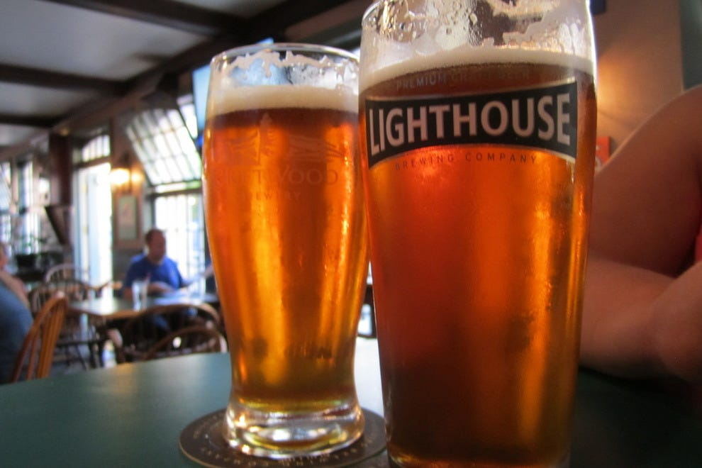 Modern beers and old world charm. Lighthouse Brewing, Victoria, BC