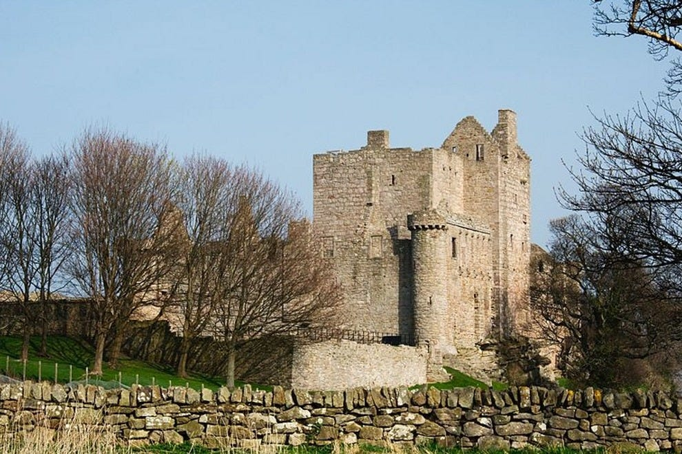 The grounds of Craigmillar Castle