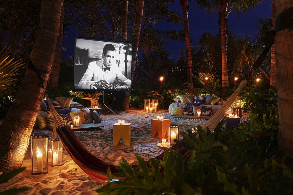 Unique features like this outdoor cinema on the sand are what make EDITION stand out from the competition
