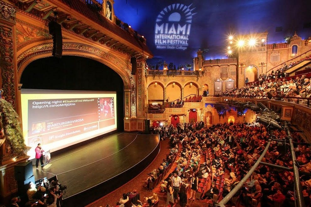 The Olympia often partners with others like the Miami International Film Fest for special events