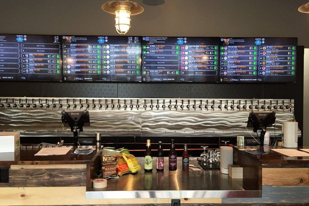 48 taps at Big Eddy Tap House
