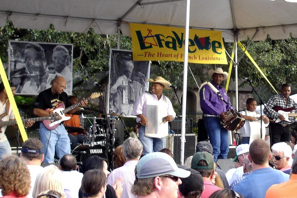 Cajun and zydeco music is always in the air in Lafayette