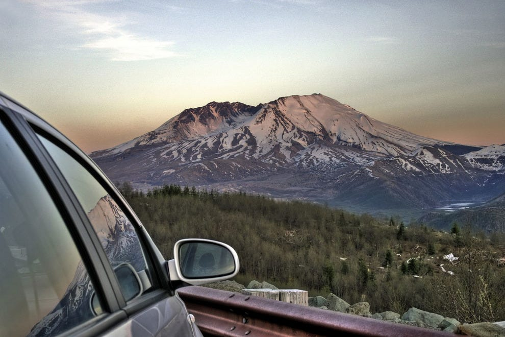 Mount St Helens From A Distance