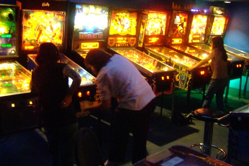Pinball machines at Ground Kontrol