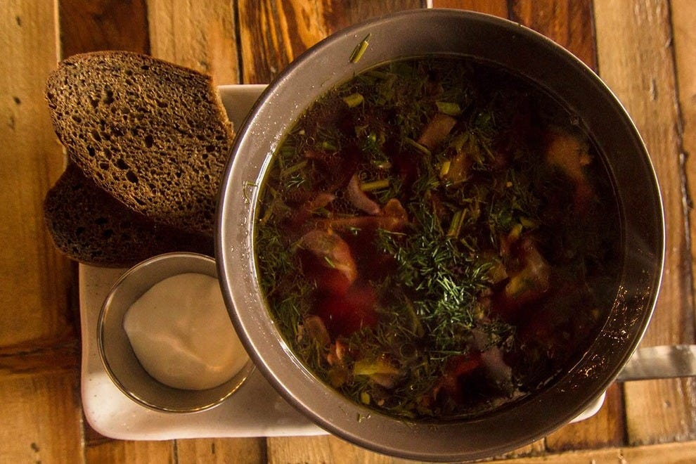 The Ukrainian-style borscht at Doma Kitchen