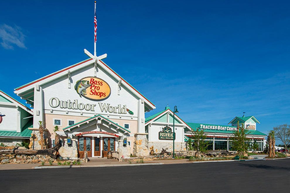 Bass Pro Shops features 130,000 square feet of outdoor gear, clothing and equipment customized for the region