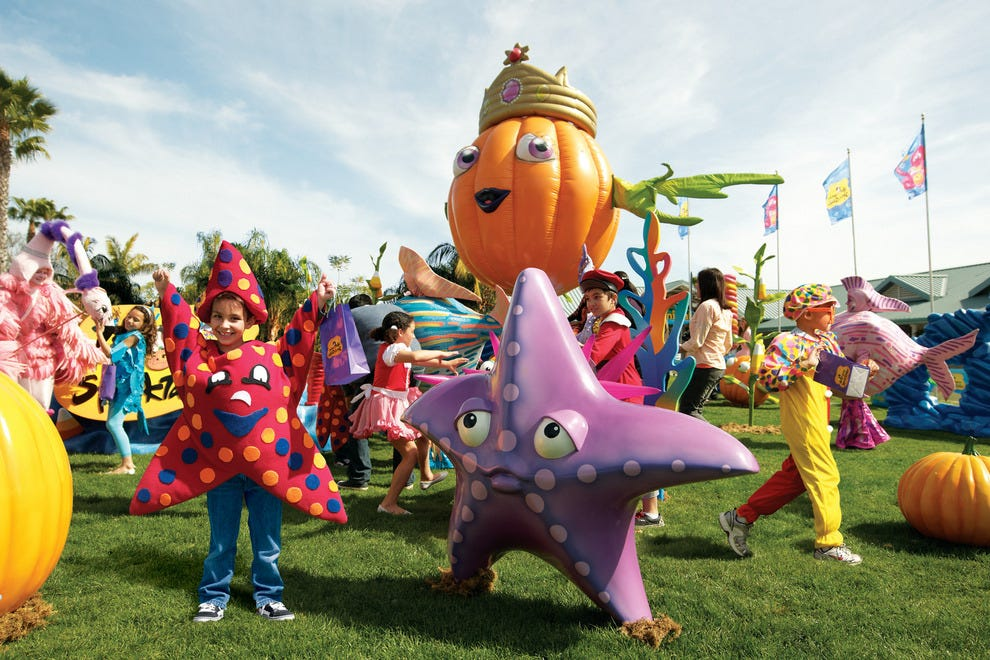 Fishy family fun meets Halloween at SeaWorld