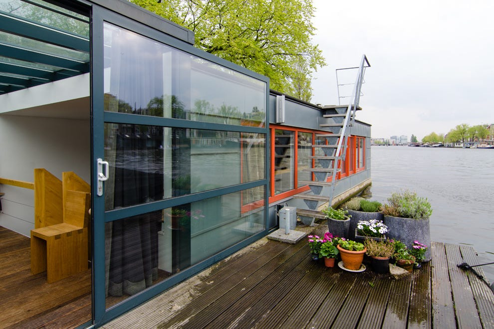 Stay in a houseboat on Amsterdam's canals