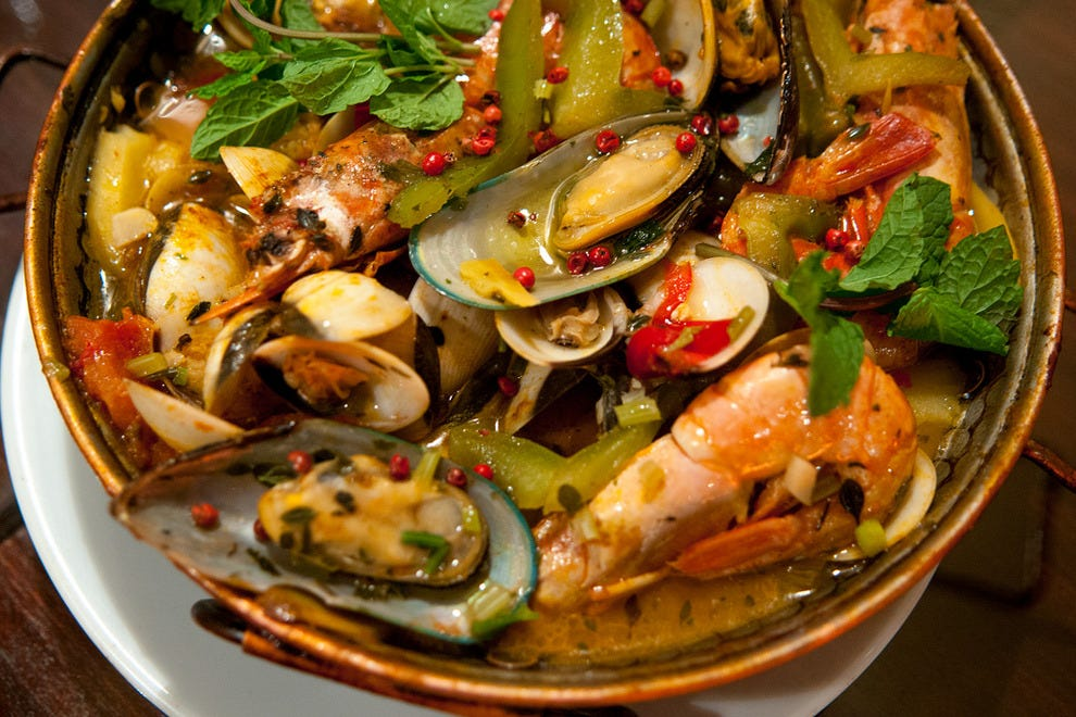 The seafood cataplana, a delicious speciality from the Algarve