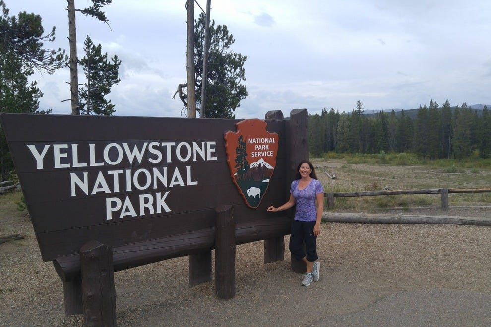 Arriving in Yellowstone National Park