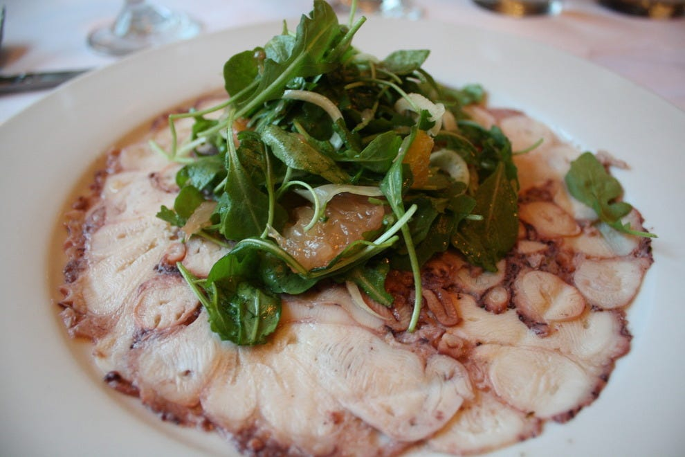 Are you up for Octopus Carpaccio?