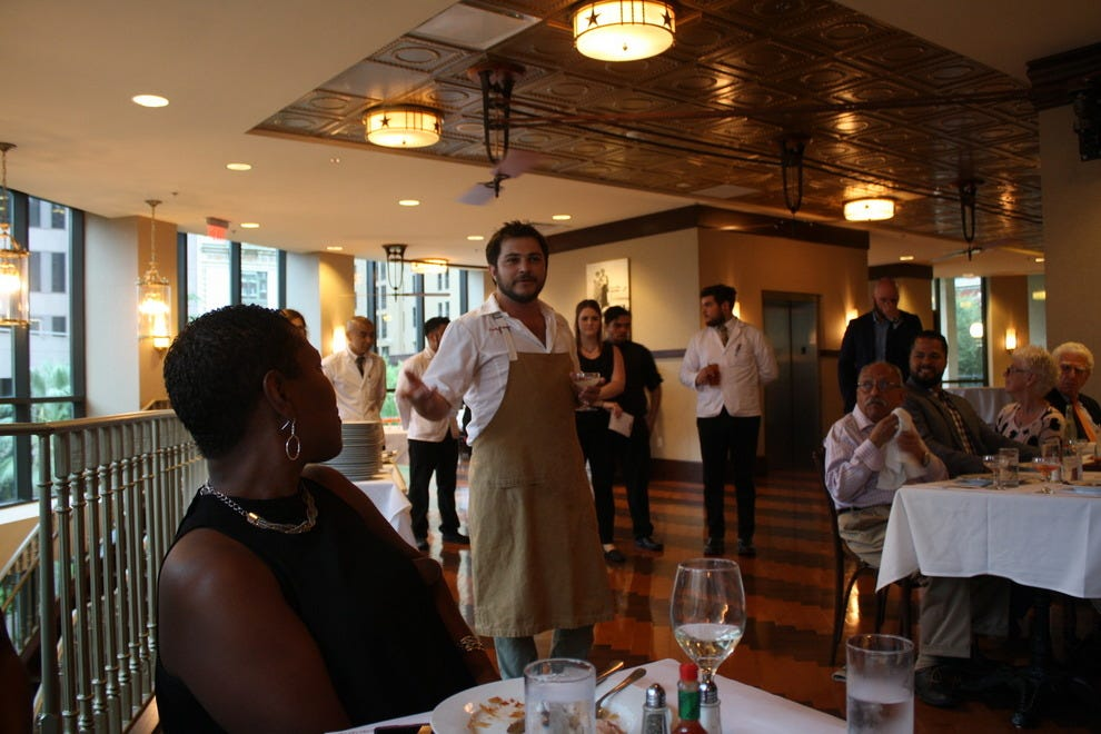 Chef Phil Mariano of Domenica at a recent Visiting Chef Dinner