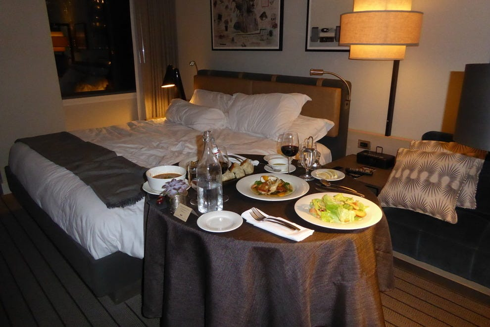 dining room service articles. in-room dining at the thompson chicago hotel \u2014 photo courtesy of jamie bartosch room service articles i