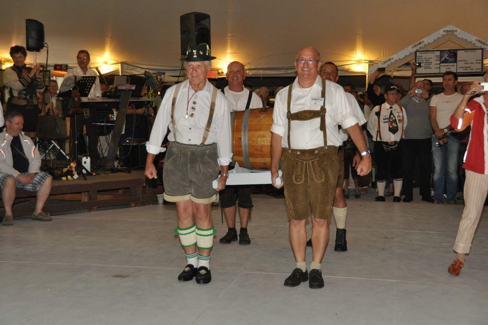 Opening ceremonies include the traditional 'tapping' of the first keg