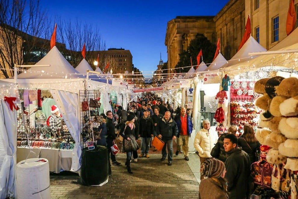 Make your way through a number of different tents that feature vendors from across the country at the D.C. Downtown Holiday Market