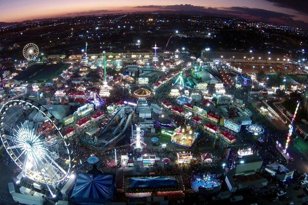 A spectacular view of the Arizona State Fair