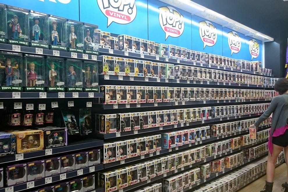 "From ""Attack on Titan"" to ""The Walking Dead"" zombies, the store's Pop Vinyl offerings are extensive"