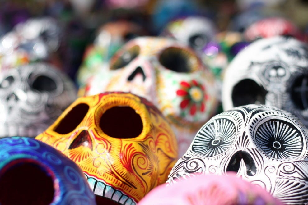 Calavera, or decorative skulls, for Day of the Dead