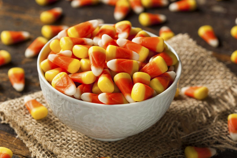 Candy corn is a more suitable title for this confection