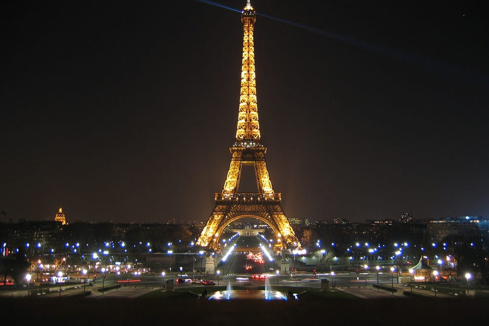 The Eiffel Tower by night, of course.