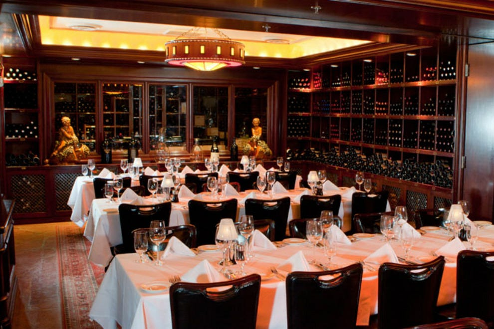 At Pappas Bros., guests have the opportunity to wine and dine in a beautiful wine room
