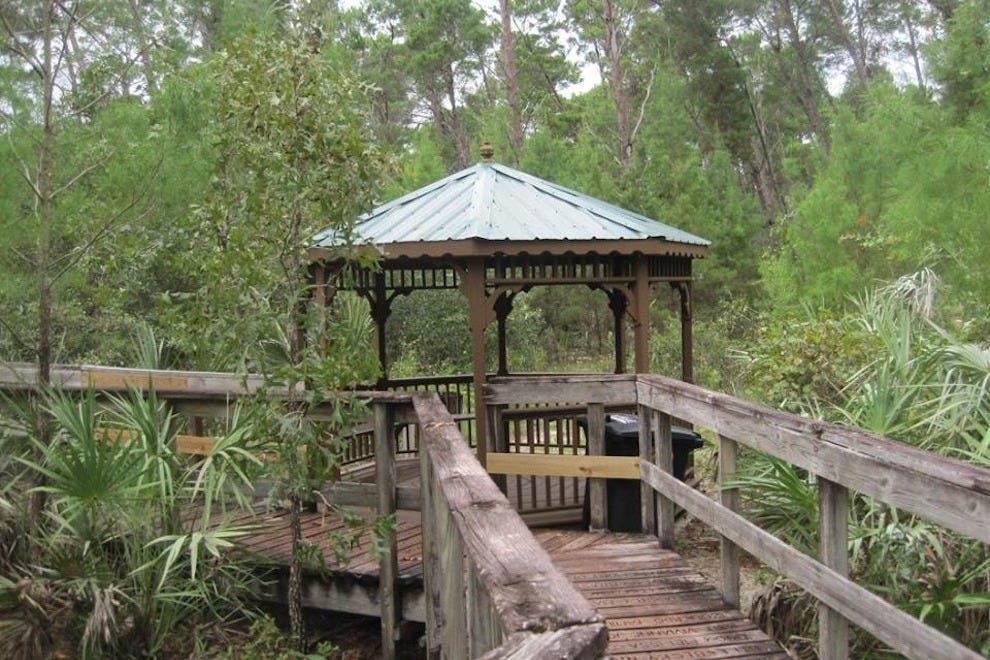 The gazebo in Turkey Creek Sanctuary