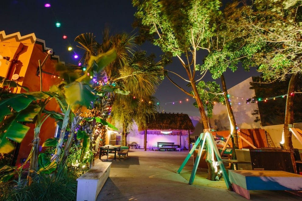 Enjoy themed nights inside, or relax out back under the stars and twinkle lights